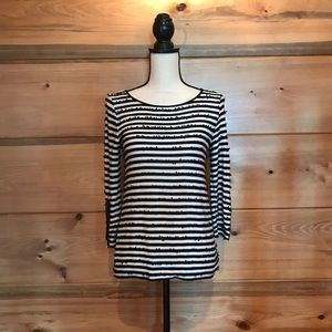 Ann Taylor Petite Black & White Top